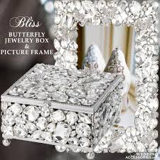 jewelry box photo frame luxurious wedding accessories chagne flutes cake sets