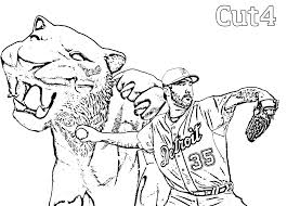 detroit tigers coloring pages detroit tigers color page free