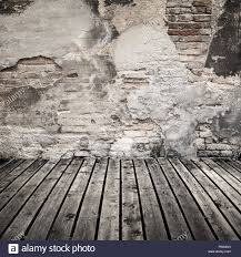 Dark Brick Wall Background Empty Abstract Interior Background With Damaged Brick Wall And