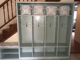 ana white entryway lockers and bench diy projects