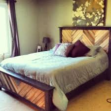 chevron cassidy queen bed do it yourself home projects from ana