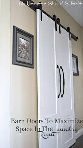 How To Hang A Barn Door by Barn Doors For The Laundry Room