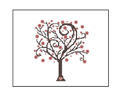 cherry blossom tree easy cross stitch pattern whimsical