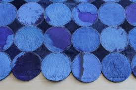 Area Rugs In Blue by Flooring Nice Cowhide Patchwork Rug In Blue With Spotted Motif