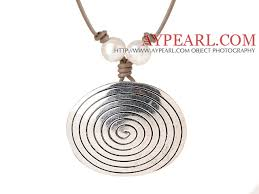 tibetan silver pendant necklace images Newly fashion simple style round tibet silver pendant necklace jpg