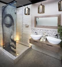 ingenious design ideas bathroom mosaic astounding white floor blue