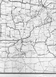 Map Of Springfield Mo Missouri Highways Unofficial Section Of 1928 Official Road Map