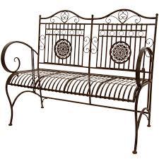 amazon com oriental furniture rustic metal garden bench