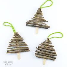 twig christmas tree popsicle stick and twigs christmas tree ornaments easy peasy and