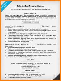 data analytics resume 11 data analyst sle resume precis format