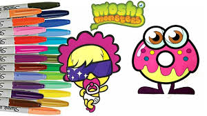 moshi monsters coloring book lady goo goo oddie sprinkled donuts