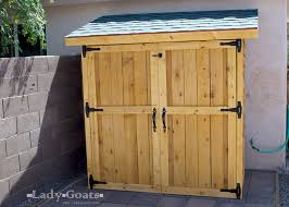 Free Wooden Storage Shed Plans by Ana White Small Cedar Fence Picket Storage Shed Diy Projects