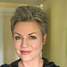 stephanie weisend short gray hair short gray pixie short grey