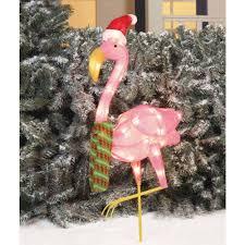 lighted flamingo yard decorations lighting decor