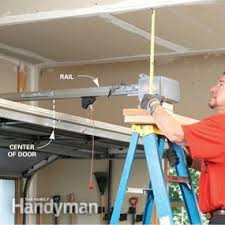 How To Fix Pull Cord On Ceiling Fan How To Install A Garage Door Opener Family Handyman