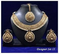 white pearl necklace designs images Designer white pearls necklace set moti ka kanthhaar moti jpg