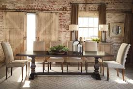 Harvest Dining Room Table | bench made harvest table dining room by bassett furniture