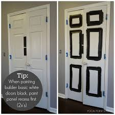 Interior Doors For Small Spaces Focal Point Styling How To Paint Interior Doors Black Update