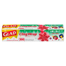 glad holiday clingwrap plastic wrap 300 sq ft roll target