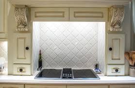 Oven Backsplash Arabesque Kitchen Complete Custom Tiling