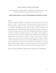 remuneration bureau de vote executive remuneration in crisis a pdf available