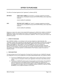home offer letter template offer to purchase real estate property