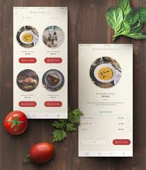 delivery mobile app for happy kitchen at changi airport ui ux