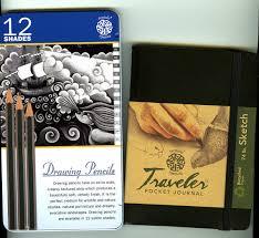 drawing pencils travel journal artist gift drawing kit