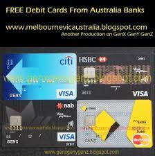 free debit card melbourne australia my national australia bank free visa