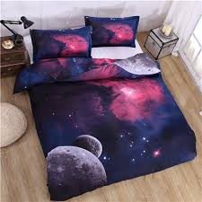Space Bed Set 3d Printed Outer Space Galaxy Bedding Set Barn Smile Shop
