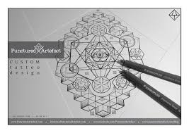 punctured artefact custom design symbolic geometric
