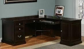 black l shaped desk antique white