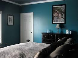 fabulous teal wall painted as dark bedroom ideas added black