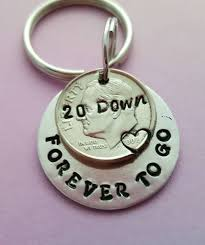 20 anniversary gift 20th anniversary gift idea 20 year wedding anniversary keychain