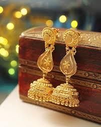gold earrings jhumka design chan chananana chan chananan gold jhumkas earrings jewellery