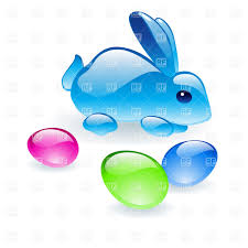 glass bunny with glass easter eggs vector image 7842 u2013 rfclipart