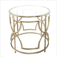 cream round end table end tables metal glass side table antique brass round coffee cream