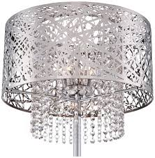 Possini Chandeliers Possini Euro Chrome Nest Crystal Chandelier Floor Lamp Amazon Com