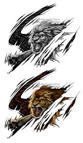 lion tattoo design by nadiavanderdonk on deviantart
