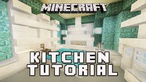 minecraftl how to make a kitchen coral house build part 6 youtube