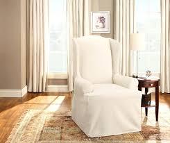 sure fit chair slipcover sure fit cotton duck wing chair slipcover sure fit slipcovers sure
