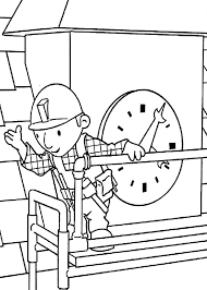 bob builder clock tower maintenance coloring pages netart