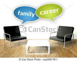famille bureau famille bureau carrière concept intérieur fauteuils clipart