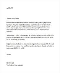 letter of recommendation sle employment letter reference letter sle employer letter template 28