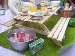how to make a miniature dollhouse picnic table youtube tutos