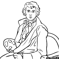 famous paintings coloring pages page 4