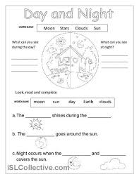 day and night printable worksheets for kindergarten 1 bunyaporn