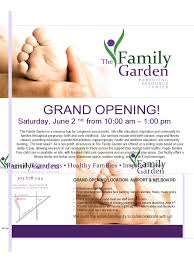 family garden longmont grand opening flyer 5 free templates in pdf word excel download