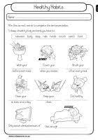 19 best images of healthy habits worksheets elementary healthy