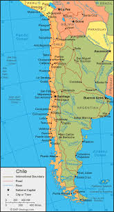 chile physical map chile map and satellite image